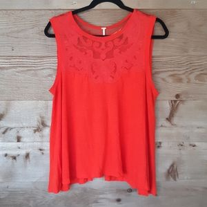 Free People Red Meant To Be Tee Size Small